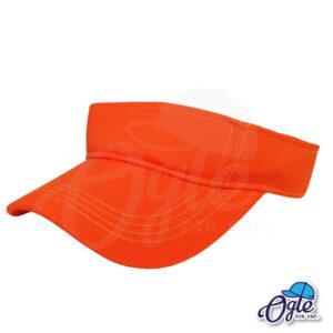 หมวกวิ่ง-หมวกครึ่งใบ-หมวกเปิดหัว-หมวกไวเซอร์-visor-สีส้ม-เอียงข้าง