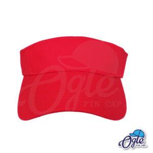 หมวกวิ่ง-หมวกครึ่งใบ-หมวกเปิดหัว-หมวกไวเซอร์-visor-สีแดง-ด้านหน้า