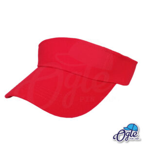หมวกวิ่ง-หมวกครึ่งใบ-หมวกเปิดหัว-หมวกไวเซอร์-visor-สีแดง-เอียงข้าง