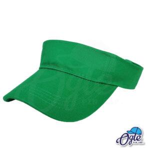 หมวกวิ่ง-หมวกใส่วิ่ง-หมวกครึ่งใบ-หมวกเปิดหัว-หมวกไวเซอร์-หมวก visor-สีเขียว-เอียงข้าง