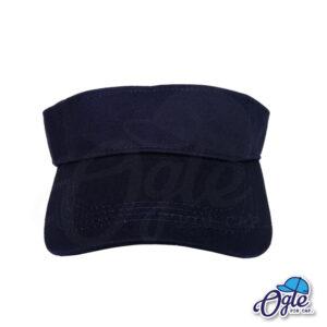 หมวกวิ่ง-หมวกใส่วิ่ง-หมวกครึ่งใบ-หมวกเปิดหัว-หมวกไวเซอร์-visor-สีกรมท่า-ด้านหน้า