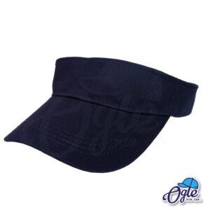 หมวกวิ่ง-หมวกใส่วิ่ง-หมวกครึ่งใบ-หมวกเปิดหัว-หมวกไวเซอร์-visor-สีกรมท่า-เอียงข้าง