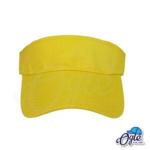 หมวกวิ่ง-หมวกใส่วิ่ง-หมวกครึ่งใบ-หมวกเปิดหัว-หมวกไวเซอร์-visor-สีเหลือง-ด้านหน้า
