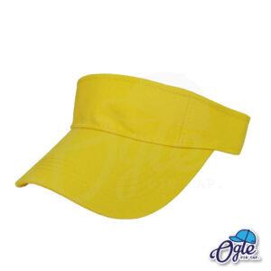 หมวกวิ่ง-หมวกใส่วิ่ง-หมวกครึ่งใบ-หมวกเปิดหัว-หมวกไวเซอร์-visor-สีเหลือง-เอียงข้าง