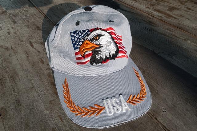 ปักหมวกราคา-หมวกแก๊ปสีเทา-ปักรูปนกอินทรีย์