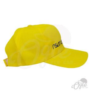 หมวกแก๊ป-ผ้าดีวาย-สีเหลือง-ปักชื่อ-กรมทางหลวงชนบท-ด้านข้าง