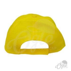 หมวกแก๊ป-ผ้าดีวาย-สีเหลือง-ปักชื่อ-กรมทางหลวงชนบท-ด้านหลัง