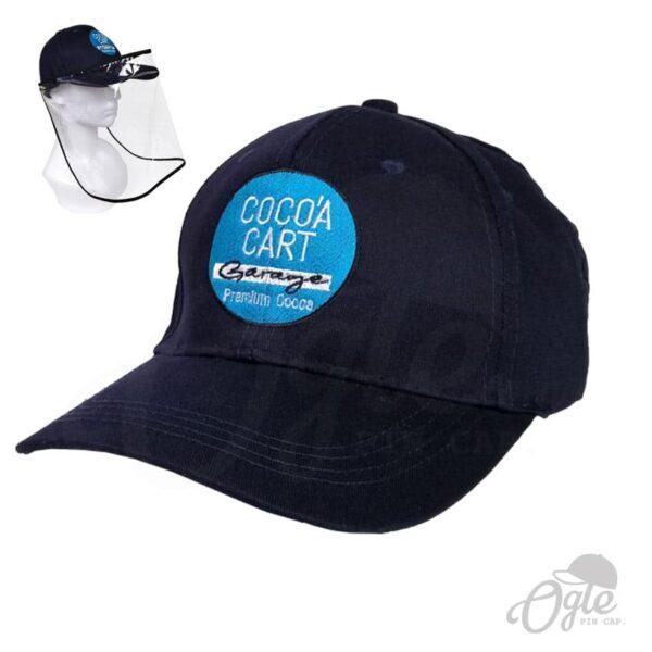 หมวกแก๊ป-พรีเมี่ยม-หมวกผ้าพีช-ปักโลโก้-Cocoa-Cart-Garage-Cafe