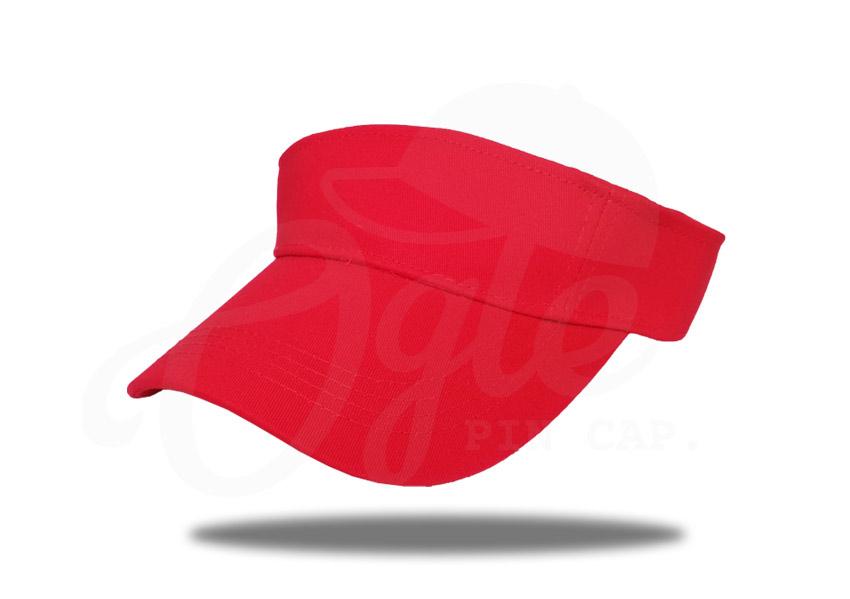 ประเภทของหมวก-หมวกวิ่ง-หมวกเปิดหัว-ผ้าพีช-cotton-100-สีแดง