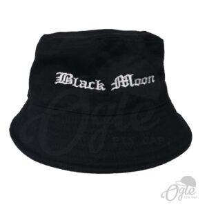 หมวกบักเก็ต-ปักชื่อ-Black-Moon-สีดำ-ด้านหน้า