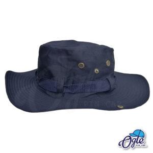 หมวกเดินป่า-วินเทจ-หมวกปีกทหาร-หมวกปีก กว้าง-หมวกปีกรอบ-กันแดด-สีกรมท่า
