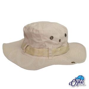 หมวกเดินป่า-วินเทจ-หมวกปีกทหาร-หมวกปีก กว้าง-หมวกปีกรอบ-กันแดด-สีครีม