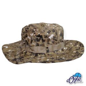 หมวกเดินป่า-หมวกลายพราง-ดิจิตอล-หมวกปีกทหาร-หมวกปีก กว้าง-หมวกปีกรอบ-น้ำตาล