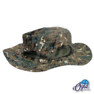 หมวกเดินป่า-หมวกลายพราง-ดิจิตอล-หมวกปีกทหาร-หมวกปีก กว้าง-หมวกปีกรอบ-สีเขียว