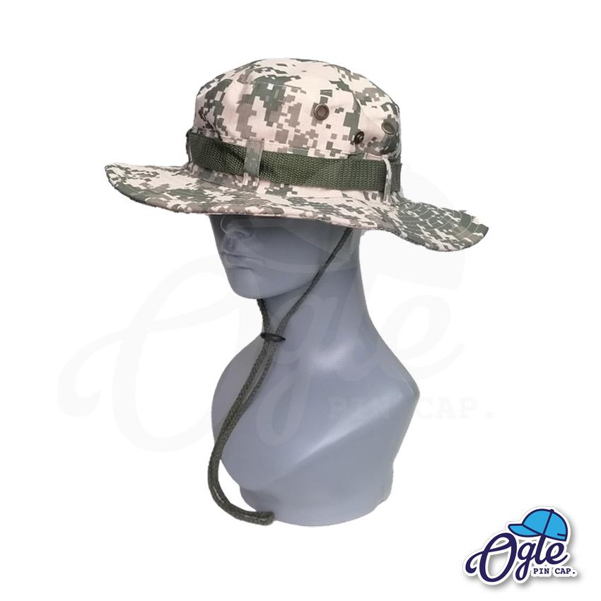 หมวกเดินป่า-หมวกลายพราง-ดิจิตอล-หมวกปีกทหาร-หมวกปีก กว้าง-หมวกปีกรอบ-หมวกมีเชือก-สีครีม