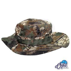 หมวกเดินป่า-หมวกลายพราง-ใบไม้-หมวกปีกทหาร-หมวกปีก กว้าง-หมวกปีกรอบ-สีน้ำตาล-01