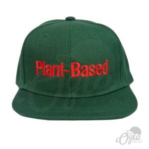 หมวกปักชื่อ-หมวกฮิปฮอป-snapback-ปักชื่อ-Plant-Based-ด้านหน้า