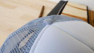 กระดุมหมวก-หมวกตาข่าย-สีเทา-หน้าขาว
