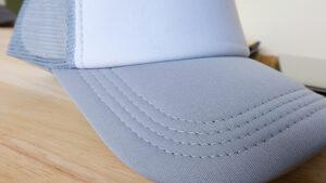 ปีกหมวก-หมวกตาข่าย-สีเทา