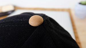 กระดุมหมวก-หมวกแก๊ปปีกหมวกหนัง-หมวกสีดำ