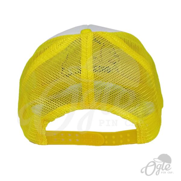 หมวกตาข่าย-สีเหลือง-ปักโลโก้-Grizzly-lazzy-bear-หลังหมวก