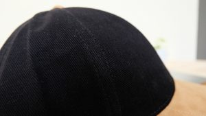 หมวกผ้าพีช-สีดำ-เนื้อผ้าหนา