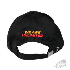หมวกแก๊ป-ผ้าพีช-ปักชื่อ-We are Unlimited-ด้านหลัง