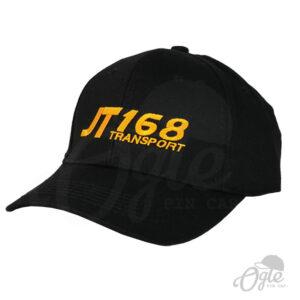 หมวกแก๊ป-ผ้าพีช-ปักโลโก้-T168 Teansport-ด้านข้าง