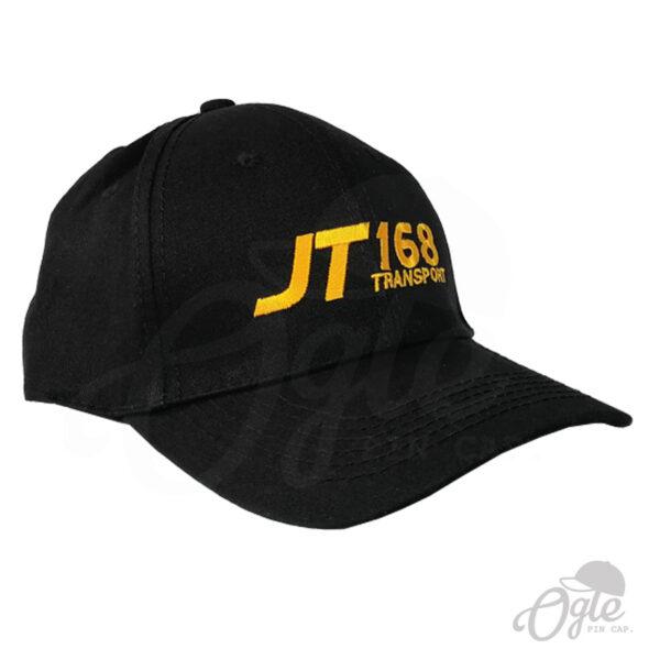 หมวกแก๊ป-ผ้าพีช-ปักโลโก้-T168 Teansport-ด้านซ้าย