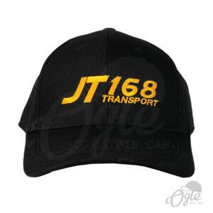 หมวกแก๊ป-ผ้าพีช-ปักโลโก้-T168 Teansport-ด้านหน้า