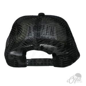 หมวกตาข่าย-สีดำ-หมวกปักชื่อ-Wanida-ด้านหลัง
