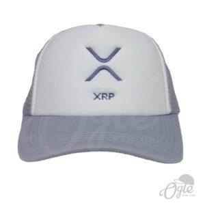 หมวกตาข่าย-สีเทา-ปักโลโก้-xrp-ด้านหน้า