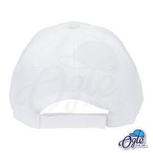 หมวกแก๊ป-สีขาว-ผ้าชาลี-ด้านหลัง