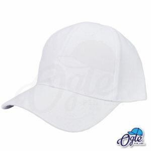 หมวกแก๊ป-สีขาว-ผ้าชาลี-เอียงข้าง