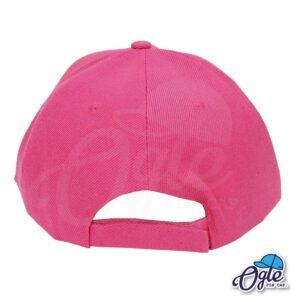 หมวกแก๊ป-สีชมพูเข้ม-ผ้าชาลี-ด้านหลัง