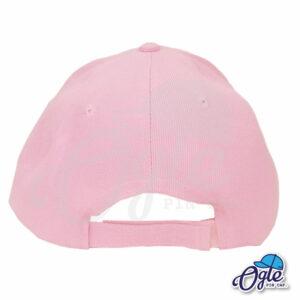 หมวกแก๊ป-สีชมพู-ผ้าชาลี-ด้านหลัง