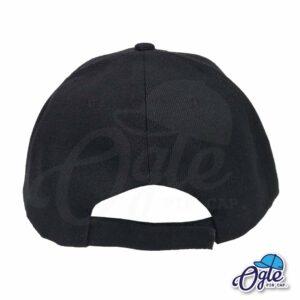 หมวกแก๊ป-สีดำ-ผ้าชาลี-ด้านหลัง