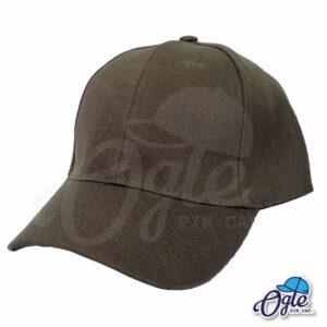 หมวกแก๊ป-สีน้ำตาลเข้ม-ผ้าชาลี-เอียงข้าง