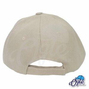 หมวกแก๊ป-สีน้ำตาล-ผ้าชาลี-ด้านหลัง