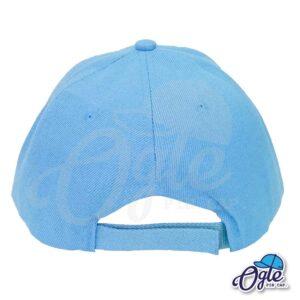 หมวกแก๊ป-สีฟ้า-ผ้าชาลี-ด้านหลัง