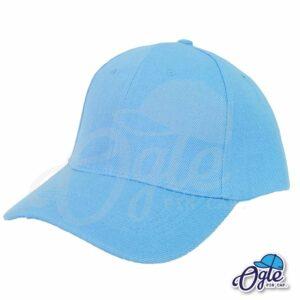 หมวกแก๊ป-สีฟ้า-ผ้าชาลี-เอียงข้าง