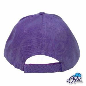 หมวกแก๊ป-สีม่วง-ผ้าชาลี-ด้านหลัง
