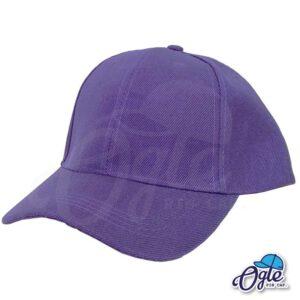 หมวกแก๊ป-สีม่วง-ผ้าชาลี-เอียงข้าง