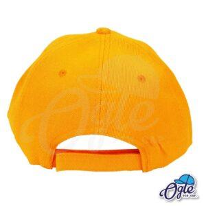หมวกแก๊ป-สีส้ม-ผ้าชาลี-ด้านหลัง
