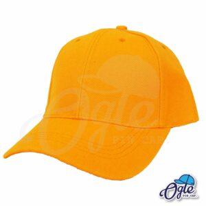 หมวกแก๊ป-สีส้ม-ผ้าชาลี-เอียงข้าง