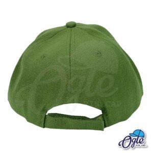 หมวกแก๊ป-สีเขียวขี้ม้า-ผ้าชาลี-ด้านหลัง
