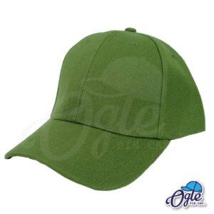 หมวกแก๊ป-สีเขียวขี้ม้า-ผ้าชาลี-เอียงข้าง