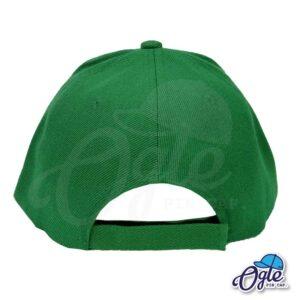 หมวกแก๊ป-สีเขียว-ผ้าชาลี-ด้านหลัง