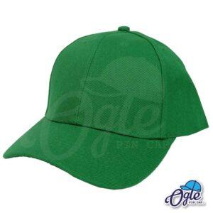 หมวกแก๊ป-สีเขียว-ผ้าชาลี-หมวกเอียงข้าง