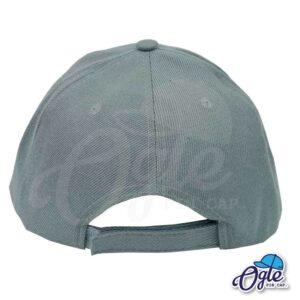 หมวกแก๊ป-สีเทาเข้ม-ผ้าชาลี-ด้านหลัง